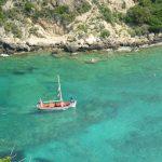 Corfu 2010 Paleokastritsa small boat by Erin Pattison