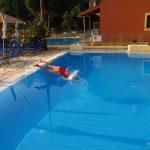 Sebastian and girls 1 pool