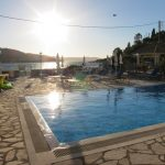 swimming pool early evening