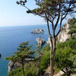 view from the monastry of Paleokastritsa